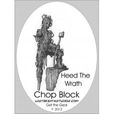 Chopblock sticker